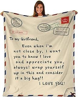 DYJD Couverture à Mon Amie Message Lettre imprimée Couverture pour Girlfriend Airmail Couverture Gâtez Cadeaux Blanket Fla...