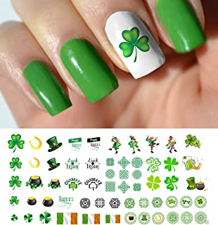 St. Patricks Day Luck of The Irish Assortment Water Slide Nail Art Decals - Salon Quality 5.5