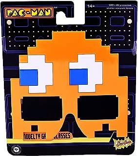 Sunstaches Pacman Orange Ghost Sunglasses, Party Favors, UV400