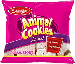 Stauffer's 20 Mini Snack Packs Iced Animal Cookies, .9 Oz. Each
