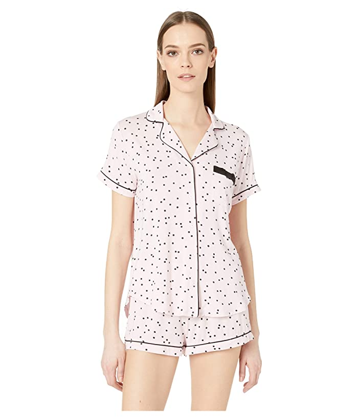 Kate Spade New York Evergreen Short Pajama Set (Scattered Dot Pink) Women