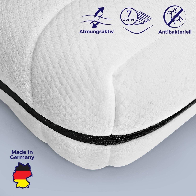 Mister Sandman atmungsaktive Kaltschaummatratze – 7-Zonen Matratze H2&H3, Premium Doppeltuchbezug, Gesamthhe ca. 15 cm. 140x200 cm H2 (180x200 cm, H3)