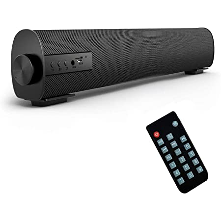 Bestisan Soundbar Wired and Wireless Bluetooth 5.0 Speaker for TV Speakers Mini Home Theater Surround with Built-in Subwoofers Remote Control Smartphone Tablet PC Desktop Projector Portable Sound bar