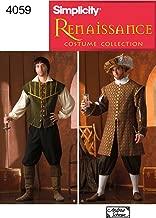 Simplicity Men's Renaissance Faire Costume Sewing Patterns, Sizes XS-XL