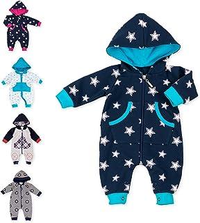 Baby Sweets Baby Overall Jumpsuit mit Kapuze für Mädchen und Jungen in Grau, Blau, Pink/Babystrampler als Overall für Babies und Kinder für Outdoor und Indoor in Neugeborenen- bis Kleinkinder-Größen