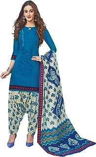 Jevi Prints Women's Cotton Printed Readymade Stitched Salwar Suit Dupatta (SUIT_CP-232)