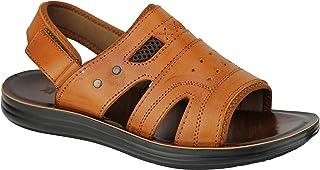 Sandalias deportivas de cuero para hombre con puntera abierta, correa para la espalda, playa, caminando, verano, vacacione...