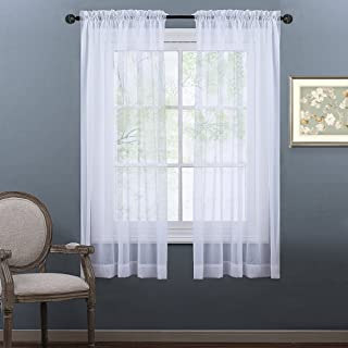 NICETOWN Sheer Curtains 63