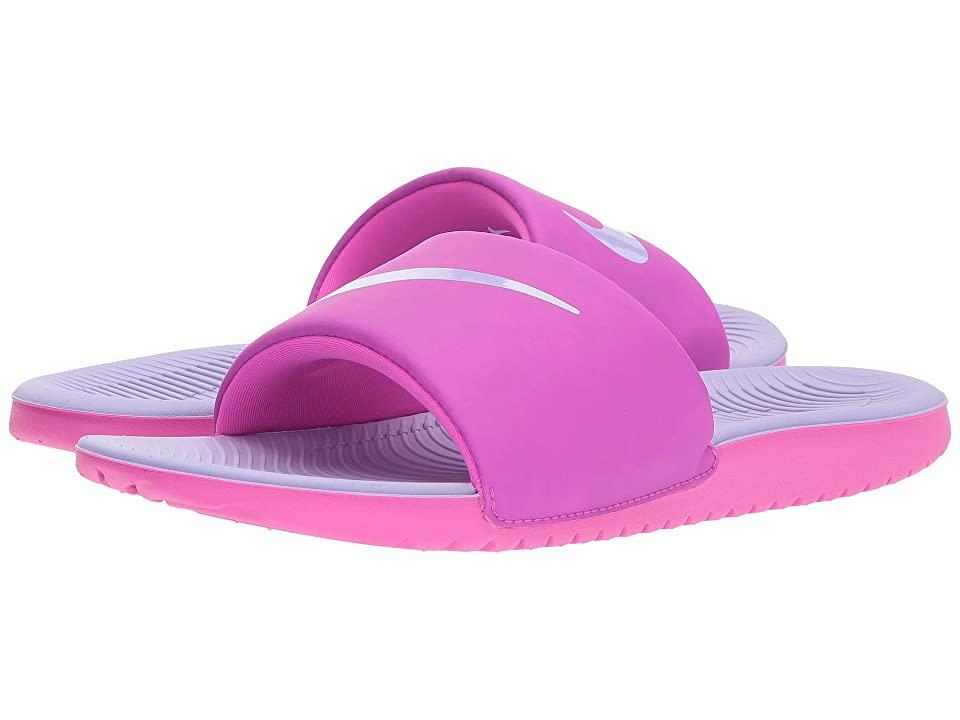 Nike Kids Kawa Slide (Little Kid/Big Kid) (Fire Pink/Hydrangeas) Girls Shoes