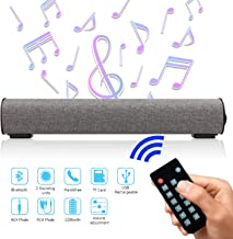 Sound Bar Bluetooth 4.2 Wireless & Wired 16.9 Inch Soundbar Surround Sound Home..
