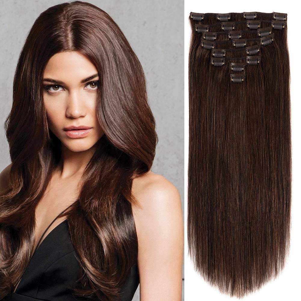 Clip in Human Hair Extensions 14Inch Ranking Now free shipping TOP3 Straight 120G Double Weft R