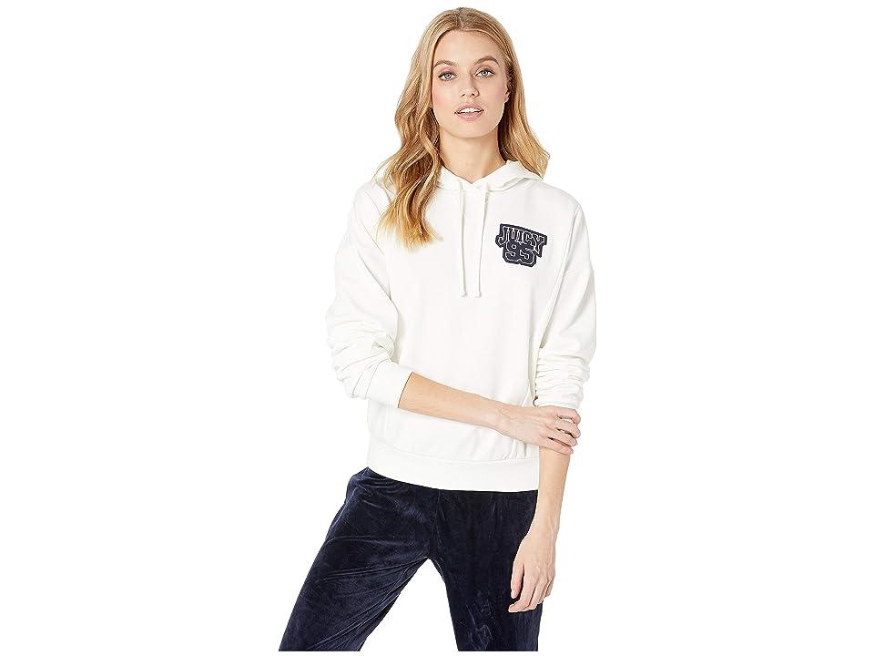 Juicy Couture Juicy 97 Logo Collegiate Hoodie (Bleached Bone) Women