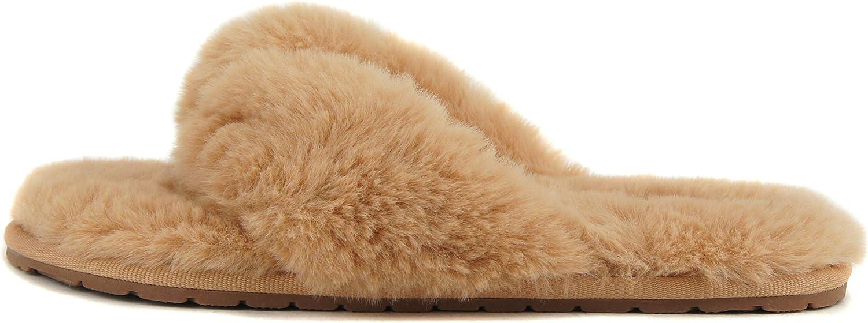 Soda Notes ~ Women Super Soft Faux Fur Fuzzy Fluffy Thong Open Toe Slipper