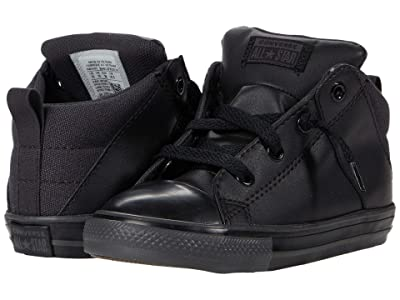 Converse Kids Chuck Taylor(r) All Star(r) Axel Tonal Mid (Infant/Toddler) (Almost Black/Black/Black) Boy
