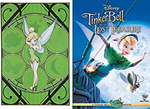 Tinker Bell Wood Wall Art Disney Movie Set DVD Tinkerbell and the Lost Treasure + Enchanted Wall Picture Wooden Hanging