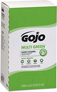 GOJO MULTI GREEN Hand Cleaner,  Natural Citrus Solvent,  2000 mL BioPreferred Certified Hand Cleaner with Natural Pumice Refill for GOJO PRO TDX Push Style Dispenser (Pack of 4) - 7265-04