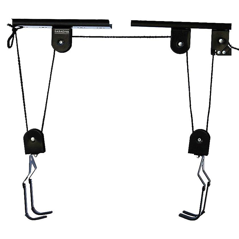 SABADIVA Bike Hooks for Garage Wall Mount Racks   1 Couple Garage Ceiling Storage Racks Lift Bicycle Hanging System Bike Rack Garage