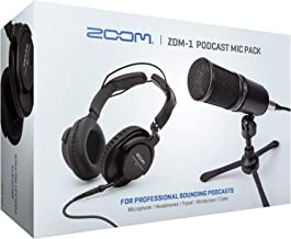 Zoom ZDM-1 Podcast Mic Pack, Podcast Dynamic Microphone, Headphones, Tripod, Windscreen, XLR Cable, For Recording Podcasts
