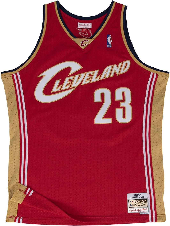 Amazon.com : Mitchell & Ness Cleveland Cavaliers Lebron James 2003 ...