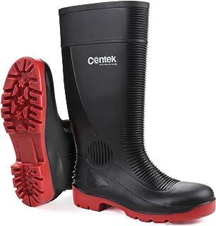 Centek FS338 compacteur sécurité imperméable rouge noir Wellington
