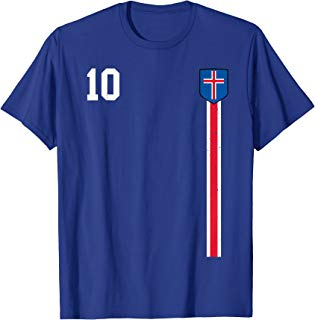 Retro Iceland Soccer football Jersey Icelandic T-Shirt