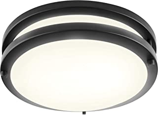 LB72172 LED Flush Mount Ceiling Light, 10-Inch Modern, Dimmable, Round Light Fixture, Oil..