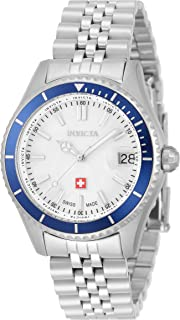 Invicta Women's Pro Diver Quartz Watch with Stainless Steel Strap, Silver, 16 (Model: 33446)