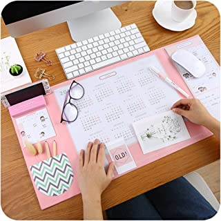 Mirstan Large Size Mouse pad Anti-Slip Desk Mouse Mat Waterproof Desk Protector Mat with with Phone Stand, Note Pad, Pockets, Dividing Rule, Calendar and Pen Holder