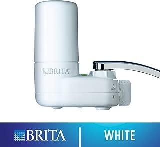 Brita 水龙头滤水系统,水龙头过滤系统,带过滤器更换提醒,减少铅,无 BPA,仅适合标准水龙头 - 基本,白色(包装可能有所不同)