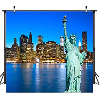 Amazon Com St 6x6ft New York City Photography Backdrop Statue Of Liberty Background For Personal Party Backdrop Or Youtube Background Props St660213 Camera Photo