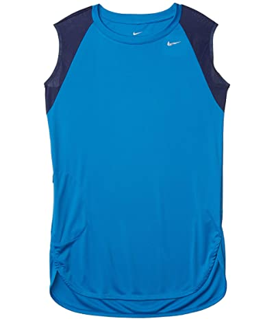 Nike Solid Cover-Up Dress (Battle Blue) Women