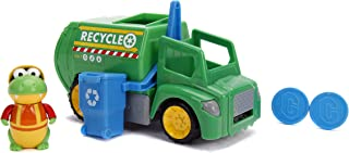 """Jada Toys Ryan's World Recycling Truck with Gus The Gummy Gator Figure, 6"""" Feature Vehicle Green"""