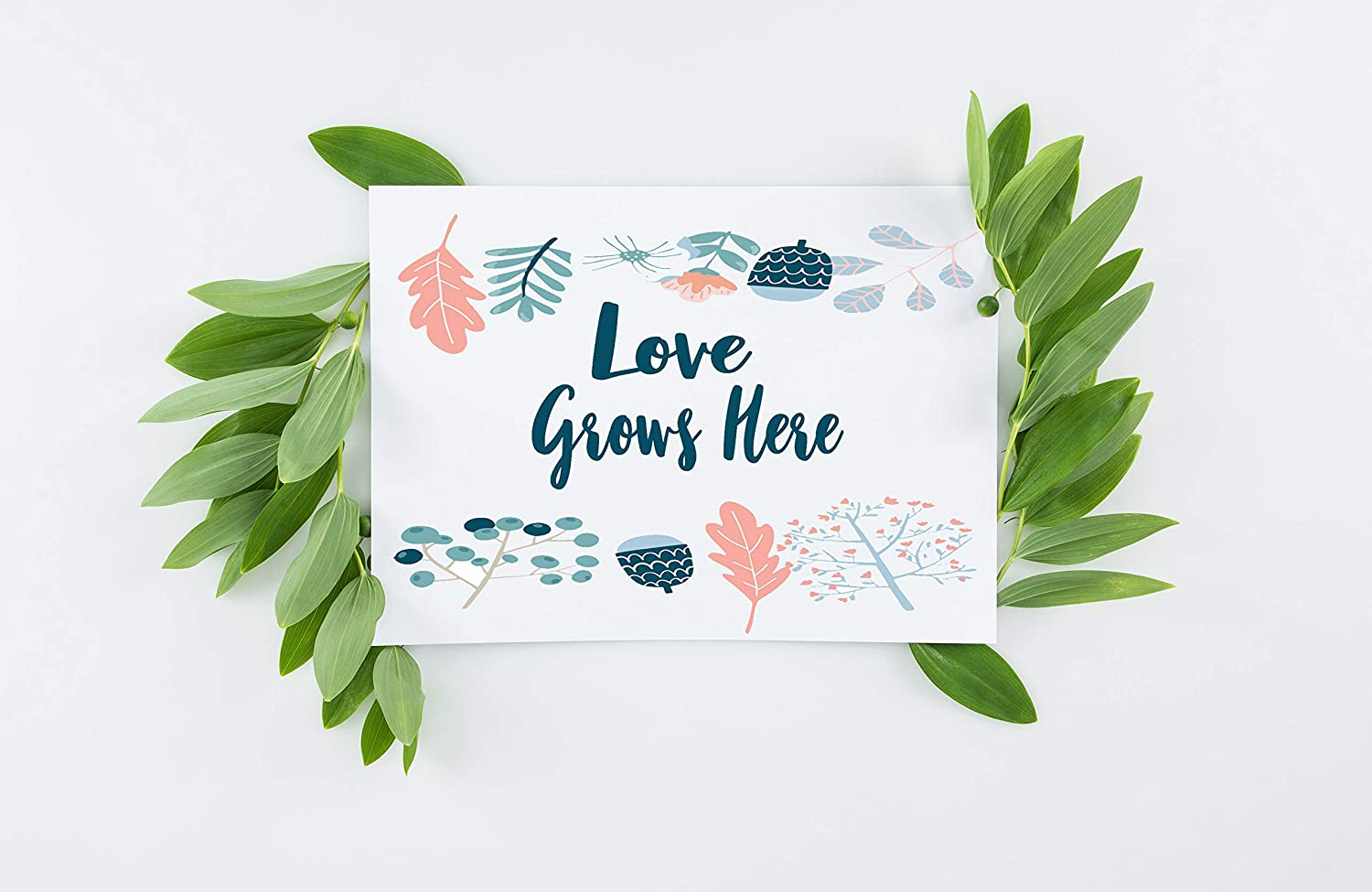 Love Grows Here Card Stationery set of 5 ☆ Regular discount very popular Thank Set You 4