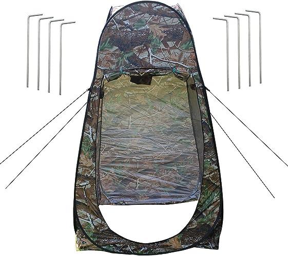 Tente de Douche Pop Up Toilette Cabinet de ChangeHommest Camping Abri de Plein Air Vestiaire pour Randonnée Plage Camping Extérieur