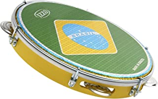 IZZO 3438 10 inch ABS Shell Pandeiro with Brazilian Flag Drumhead
