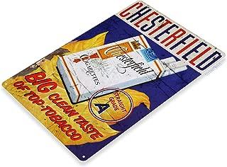 Tinworld Tin Sign Chesterfield Cigarettes Retro Rustic Smoke Shop Store Metal Sign Decor B122