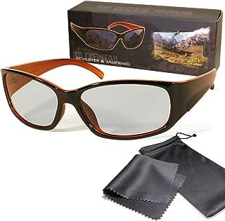 Gafas 3D pasivo para RealD - Negro / Naranja - Alta calidad - Polarizadas circular - Con estuche y paño de microfibra - Compatible con Cinema 3D de LG, Easy 3D de Philips, televisores 3D con polarización circular de Toshiba, Grundig, Sony, Panasonic y RealD en los cines - No Gafas 3D activas - No Active Shutter