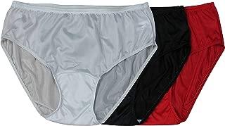 Shadowline Women's Hidden Elastic Nylon Hipster Panty 3-Pack