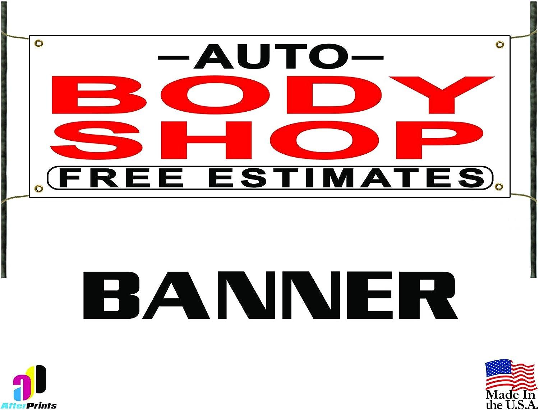 Amazon.com Auto Body Shop Free Estimates Banner Sign Repair Dent ...