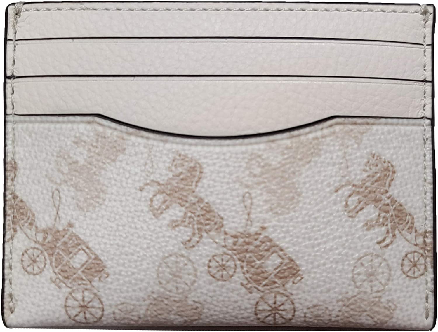 Coach Slim Card Case With Horse And Carriage Print