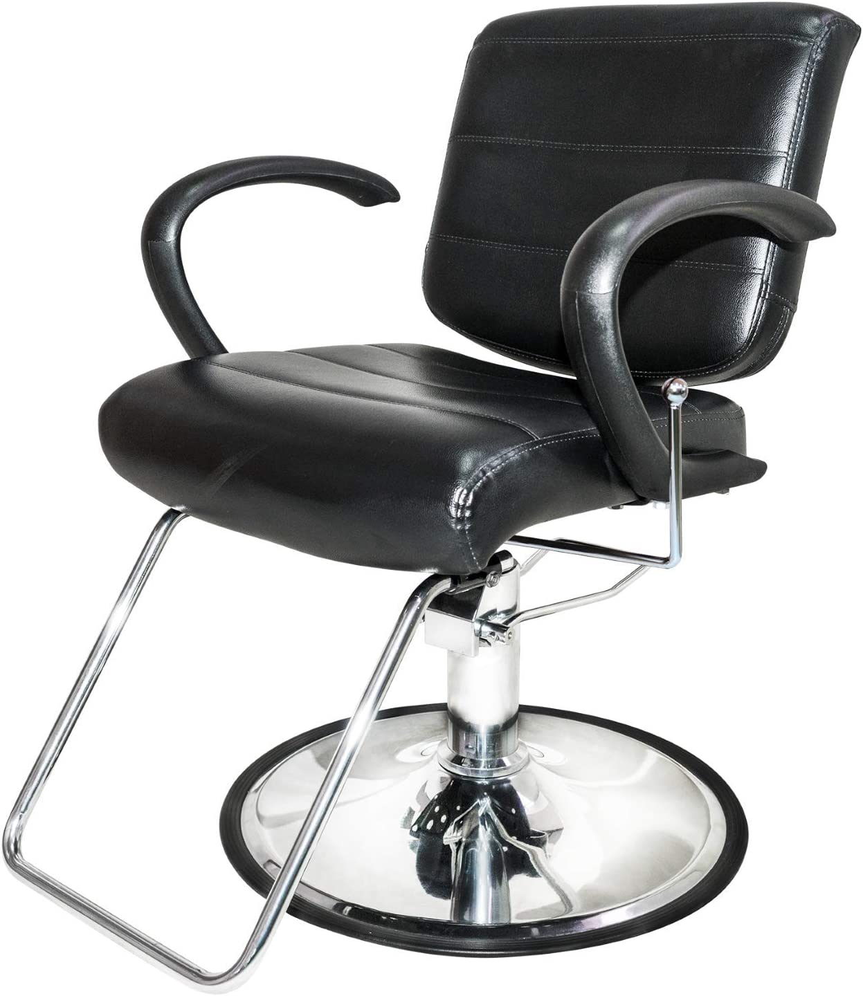 Chromium by PureSana Professional Salon All Purpose Chair [2043], Sealed Hydraulic Pump, Premium Vinyl Material, Reclines and Rotates 360 Degrees, Salon Quality: Kitchen & Dining