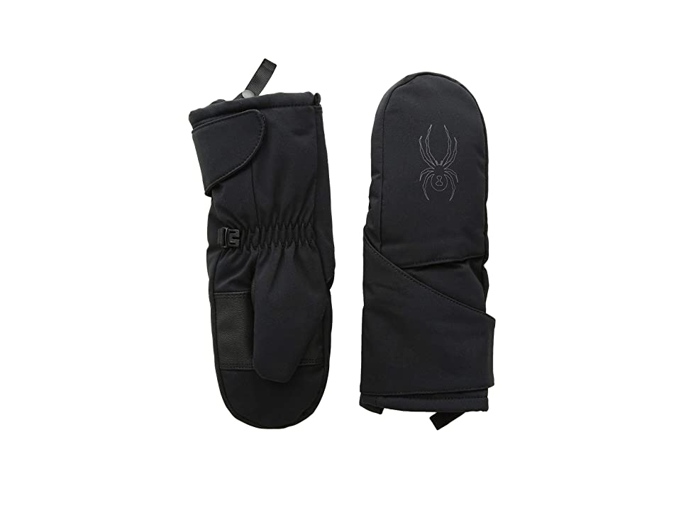 Spyder Kids Mini Cubby Ski Mitten (Toddler) (Black/Polar) Ski Gloves