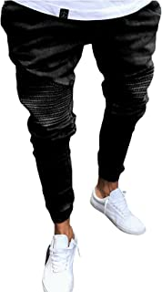 Letuwj Men's Stretch Fit Denim Stretch Pant