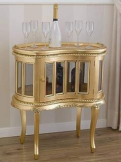 SIMONE GUARRACINO LUXURY DESIGN Table Basse Coloniale Haricot vitrine Bar casier Porte-Bouteilles Style Baroque Français F...