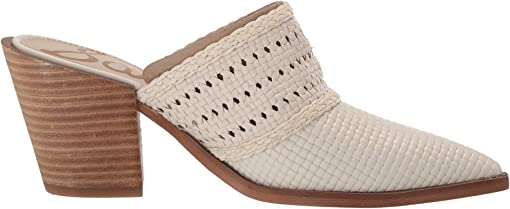 Modern Ivory Bengal Woven Leather