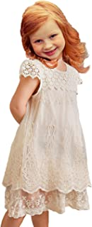 rustic lace flower girl dresses