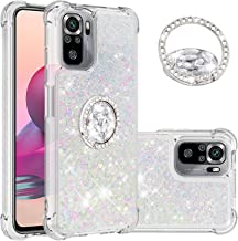 CCSmall Case for Xiaomi Redmi Note 10 4G (Not 5G)/Redmi Note 10S with Creativity Clear Quicksand Glitter Flowing Floating ...