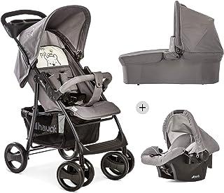Hauck Shopper SLX Trio Set, barnvagn upp till 25kg + bilbarnstol grupp 0 + liggdel, spädbarnsmadrass, buggy med liggläge,...