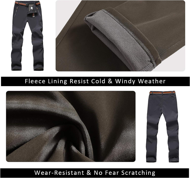 LHHMZ Men/'s Hiking Trousers Comfortable Warm Fleece Winter Walking Trousers Windproof Outdoor Casual Climbing Skiing Cycling Trousers