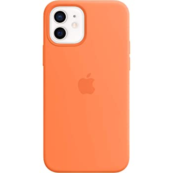 Apple Silicone Case with MagSafe (for iPhone 12 | 12 Pro) - Kumquat